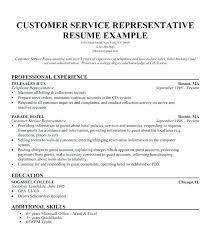 Customer Service Representative Job Description Resume 9546