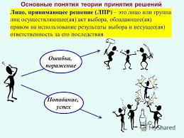 Реферат Принятие решений Теория оптимальных решений реферат