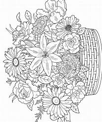 Small Picture Floral coloring pages flowers in basket ColoringStar