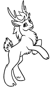 Small Picture Printable Coloring Pages Reindeer Coloring Pages