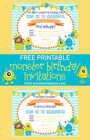 Lil Monster Birthday Invitations How To Throw A Monster Party Free Printable Invites And Food Labels