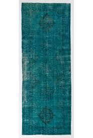 turquoise runner rug 4 9 x 12 146 x 369 cm turquoise blue color vintage overdyed handmade turkish runner rug blue overdyed runner rug