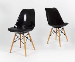 chair with wooden legs cushion to zoom