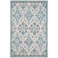 safavieh evoke ivory light blue 5 ft x 8 ft area rug