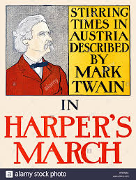 mark twain portrait stock photos mark twain portrait stock   magazine cover a portrait of mark twain promoting his essay stirring