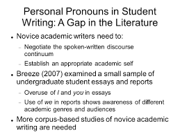personal pronoun use in community college student writing 5 personal