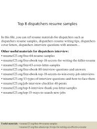 Dispatcher Job Description Resume Top10000dispatchersresumesamples10000lva100app6100009100thumbnail100jpgcb=10010037637032 83