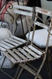 french metal folding chairs. french bistro chairs - white mismatched pair $275.00 metal folding
