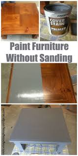 diy refinishing furniture without sanding. how to paint wood furniture without sanding first.: there is no need sand down get that gloss coat off before painting. diy refinishing