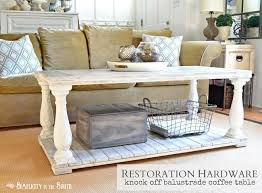 how to make a restoration hardware knock off barade coffee table