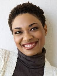 best short natural haircut heart faces african american