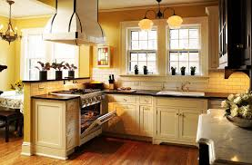 cream kitchen cabinets with black countertops. Kitchen With Yellow Walls And Wood Cabinets - Bing Images Cream Black Countertops T