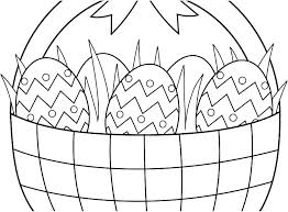 Easter Basket Coloring Printable Psubarstoolcom
