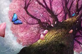 cherry blossom tree artwork