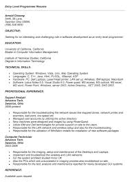 programmer - Entry Level Programmer Resume