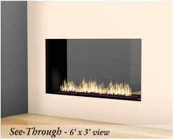 stellar 7st3 galaxy series fireplace see through 7 ft wide by 3 ft height 120000 btu