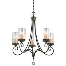 kichler lara 5 light chandelier in shadow bronze traditional chandeliers chandeliers