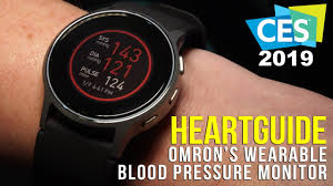 Omron HeartGuide <b>Smart</b> Wearable <b>Blood Pressure</b> Monitor at CES ...