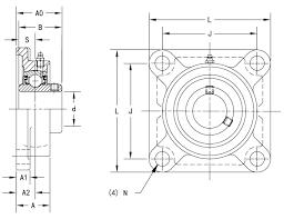 Pedestal Bearing Size Chart Ucf206