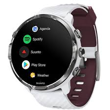 SUUNTO 7 GPS Sport/Smart Watch (White Burgundy) SS050380000 B&H