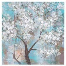 tree in bloom hand painted contemporary artwork