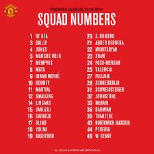 """Fanatik on Twitter: """"Manchester United'lı futbolcuların yeni sezondaki forma  numaraları açıklandı… """""""