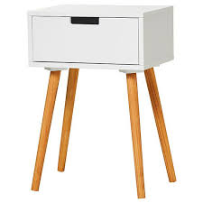 white side tables. Side Table With Drawer - White Tables L