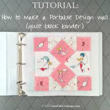 Tutorial: How to Make a Portable Design Wall for Quilt Blocks ... & Faith and Fabric - How to Make a Portable Design Wall Quilt Block Binder  square Adamdwight.com