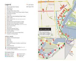 Festival Of Lights Niagara Falls Map Queen Victoria Park In Niagara Falls Route Map Of Lights
