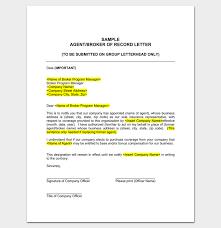 Sample Insurance Agent Appointment Letter Sample Letter