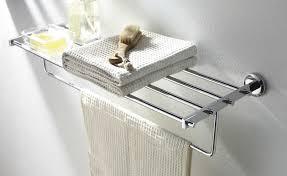 Bathroom Towel Racks Brushed Nickel WALLOWAOREGONCOM Fun Ideas