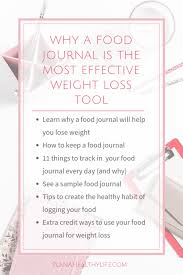 Sample Food Logs Why A Food Journal Is The Most Effective Weight Loss Tool