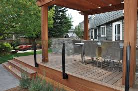 frameless glass deck railing systems amazing patio new decoration exclusive decorating ideas 8