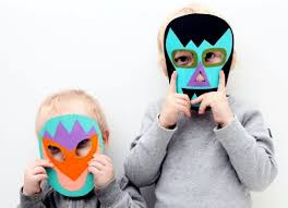 Cardboard Masks To Decorate Funny carnival masks craft for the carnival is fun Interior 57