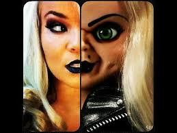 bride of chucky makeup tutorial