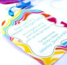 Tie Dye Wedding Invitations Home Improvement Wilson Tripea