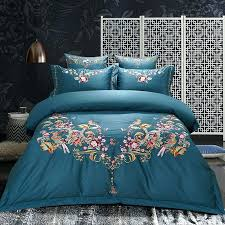 duvet cover embroidered red green cotton luxury royal wedding bedding set oriental embroidered duvet cover double duvet cover embroidered