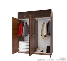 8 door set of hanging and 3 interior drawers wardrobe closets w 14 in matching storage cap toppers