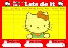 Hello Kitty Reward Chart Free Hello Kitty Potty Chart