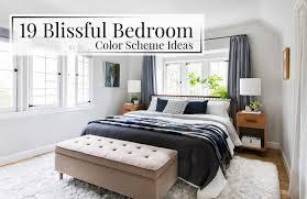 19 blissful bedroom color scheme ideas