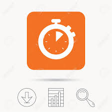 Stopwatch Icon Timer Or Clock Device Symbol Report Chart Download