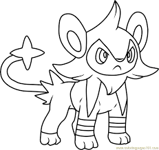 Small Picture Luxio Pokemon Coloring Page Free Pokmon Coloring Pages