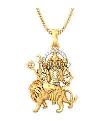 bluestone 18kt yellow gold diamond mata sherawali pendant bluestone 18kt yellow gold diamond mata sherawali pendant in india on snapdeal