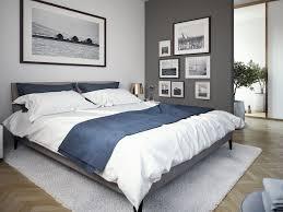 Modernes Schlafzimmer Farben Grau Weiss Blau Wohnideen