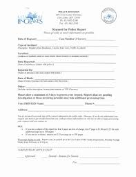 Cover Sheet Resume Template Fake Car Accident Report Unique Standard Incident Report form Police 26