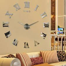 aliexpresscom buy big unique diy wall clocks 3d mirror sticker metal watches large modern wall clock contemporary huge cool clock for decoration from big unique diy wall clocks