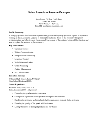 Objective For Resume Sales Associate Resume How To Write For Sales Position Nice Objective Retail 5