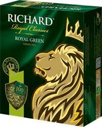 <b>Чай зеленый RICHARD Royal green</b> китайский байховый к/уп ...