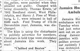 all the evidence we could about fred trump s alleged  clipping from the queens county evening news 2 1927