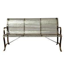 Wrought Iron Double Heart Bench Patio FurnitureOutdoor Wrought Iron Bench